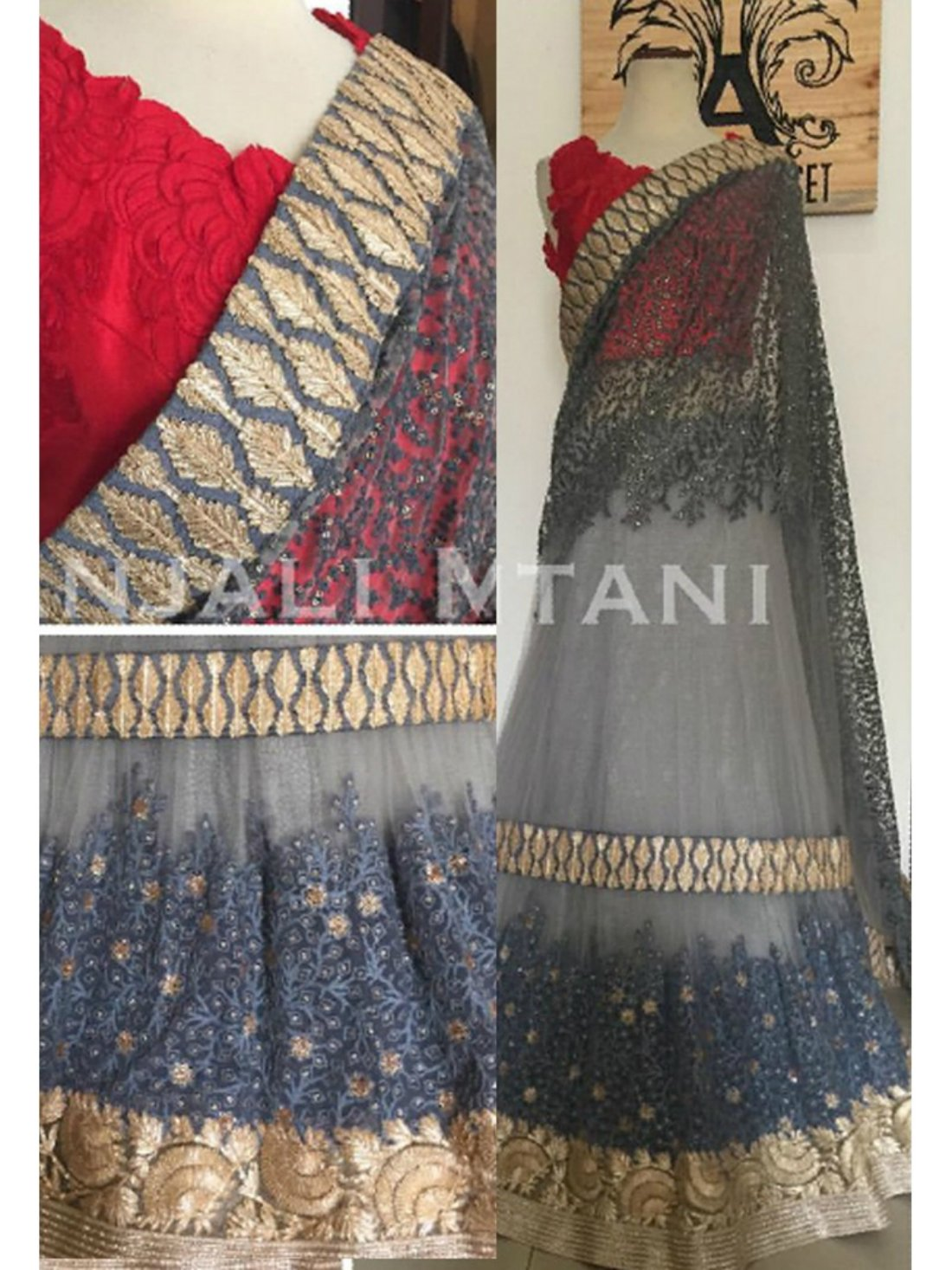 Bollywood Grey Lehnga- Indiana Lifestyle Online Shopping