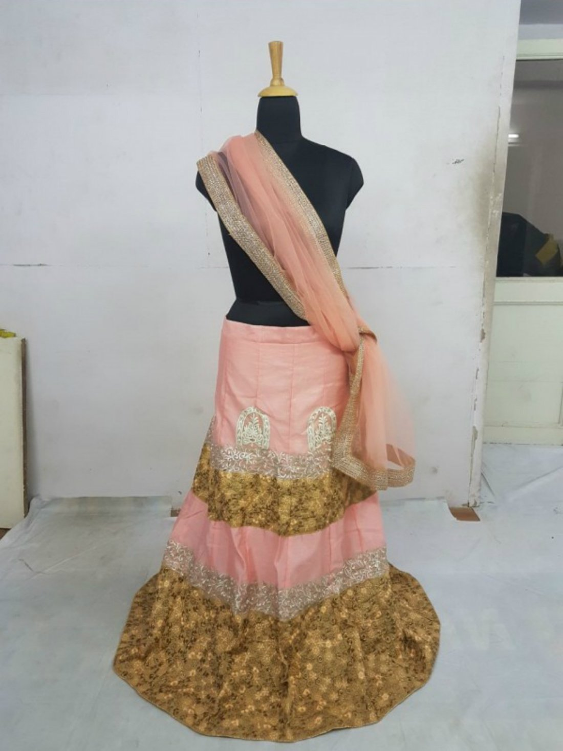 Bollywood Style Peach Color Lehnga Choli- Indiana Lifestyle online Shopping