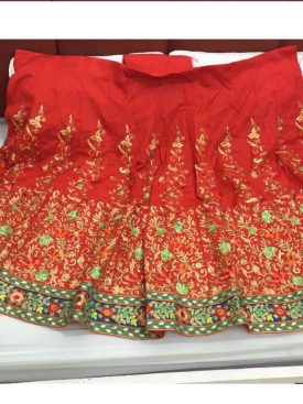 Red Bollywood Designer Embroidery Work Lehnga- Indiana Lifestyle Online Shopping