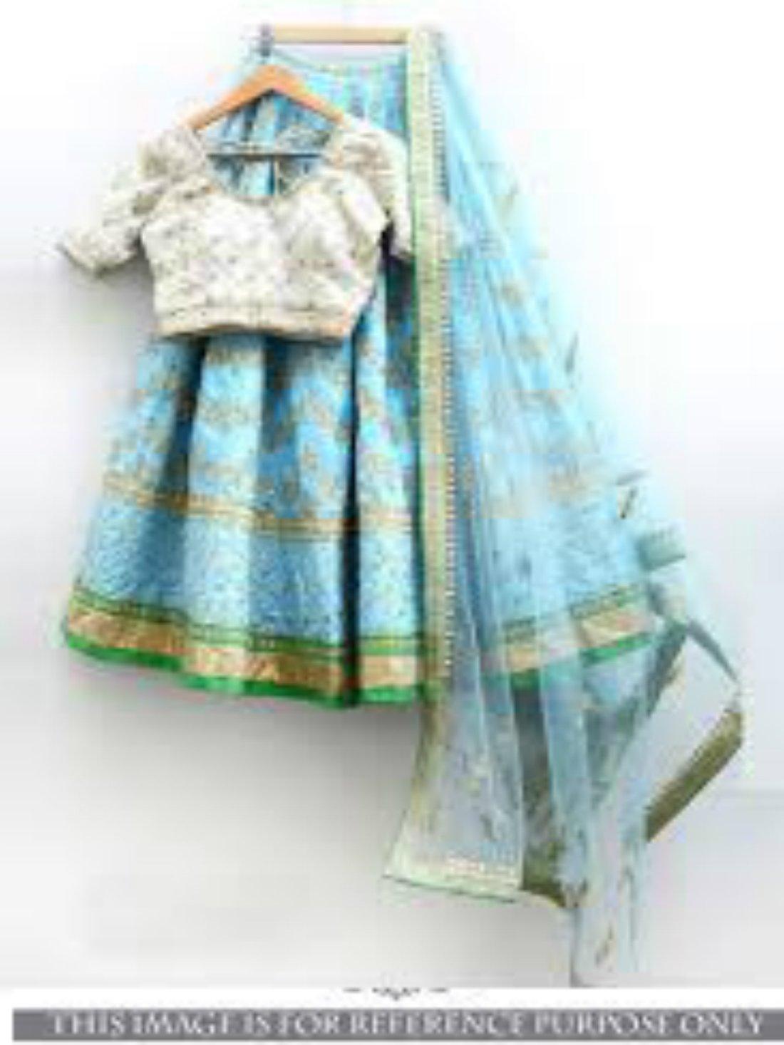 Sky Blue Designer Lehnga Choli- Indiana Lifestyle Online Shopping