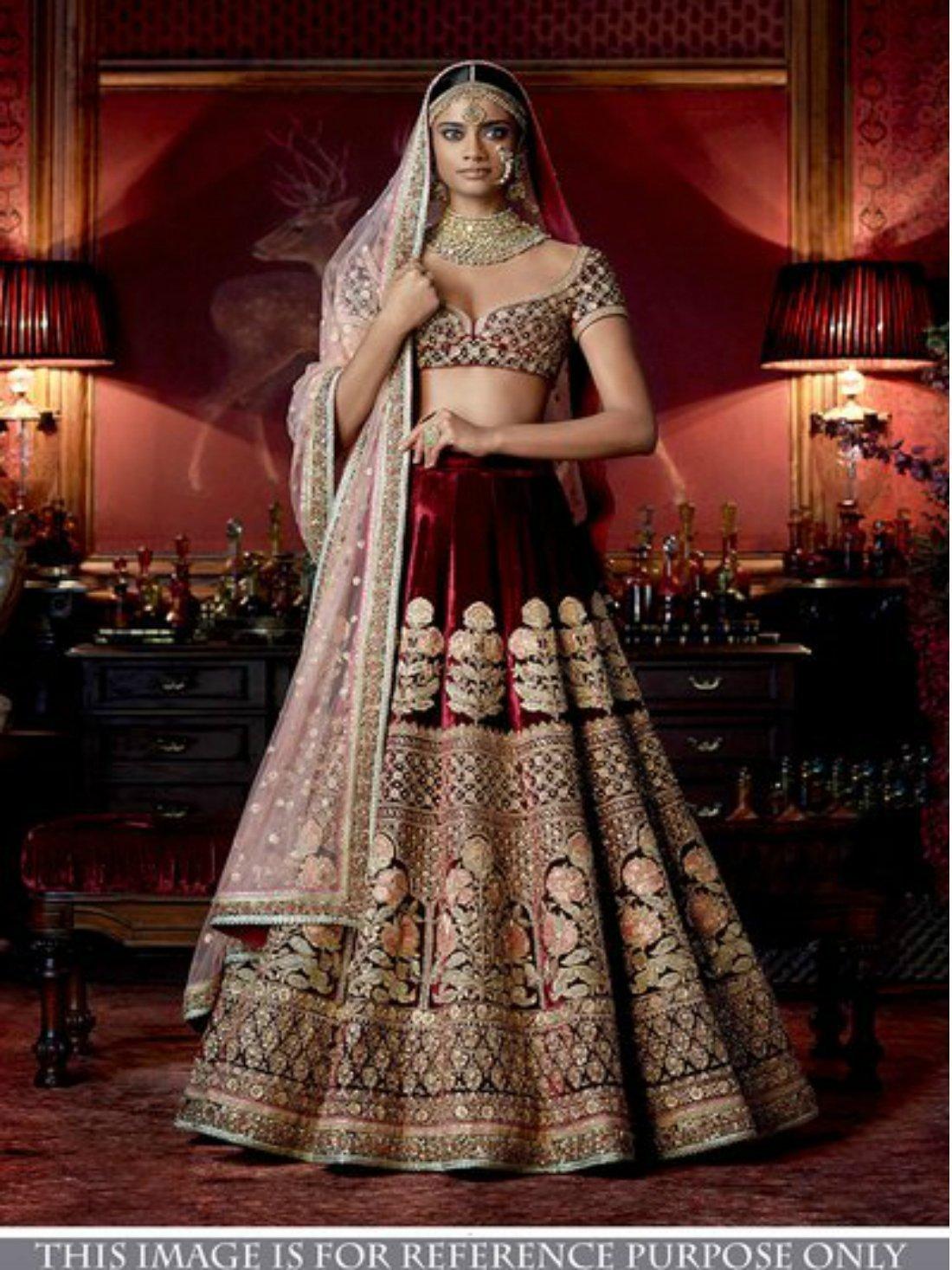 Indiana Designe Bridal Maroon Lehnga- Indiana Lifestyle Online Shopping