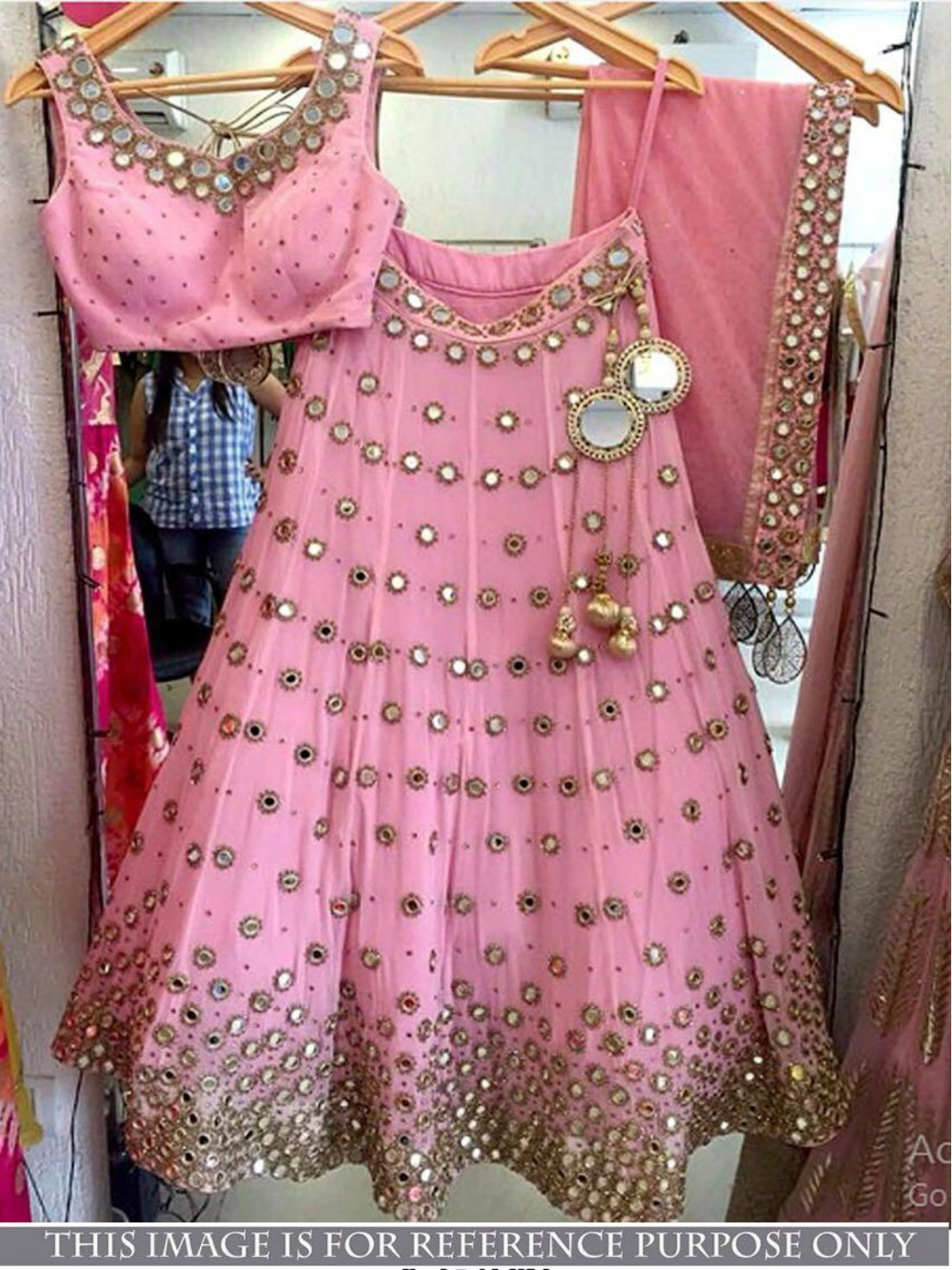 Bollywood Pink Color Zari work Lehnga- Indiana Lifestyle Online Shopping