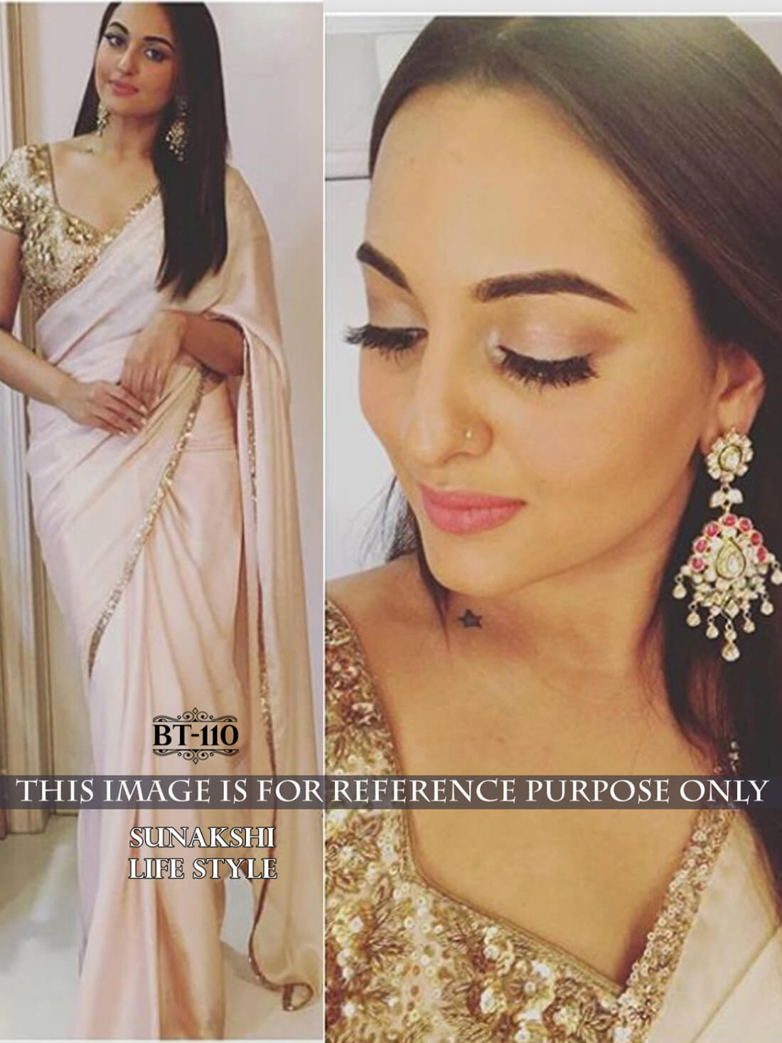 Akira Bollywood Star Sonakshi Sinha Saree- Indiana Lifestyle Online Shopping