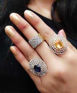 Diamond Studd Combo 3 Rings