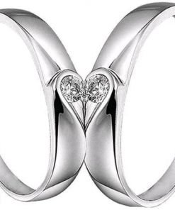 Women's Stainless Steel Silver Plated Ring