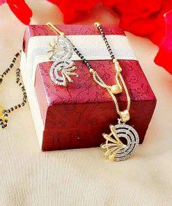 Pendent Mangalsutra with diamond work