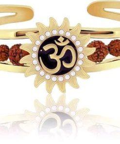 Om With Rudraksh men bracelet