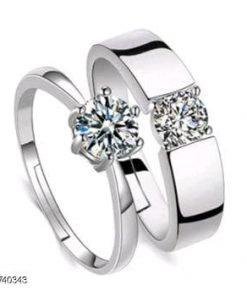 Couples Single Diamond Ring
