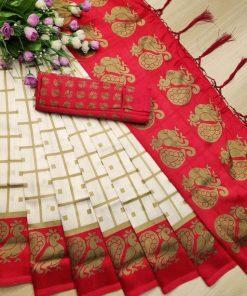 Stylish Women Red Sarees