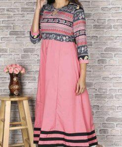 Ethnic Print Light Pink Kurti