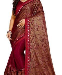 Aishani Fabulous Malai Silk Saree With Blouse