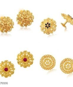 Combo of 4 Gold Plat Earing