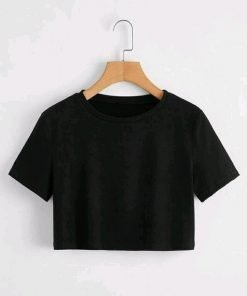 Black Color Cotton Top For Girls