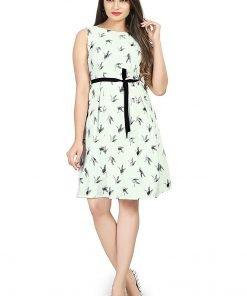 Beautiful Western Black Dot White Top Dress