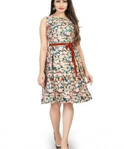 Beautiful Western Peach Colorful Top Dress
