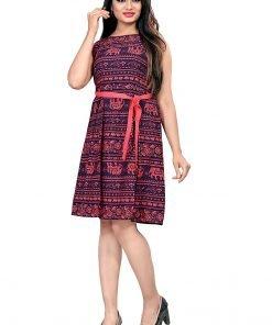 Beautiful Western Maroon Colorful Top Dress