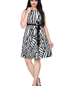 Beautiful Western Black Leriya Colorful Top Dress