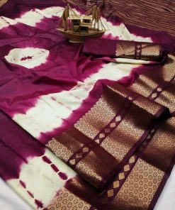 Beautiful Printed Cotton Art Silk Multi Color Saree