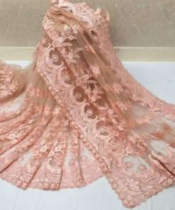 Beautiful Net Embroidery Work Saree with Blouse piece