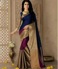 Golden Alisha Designer Silk Saree