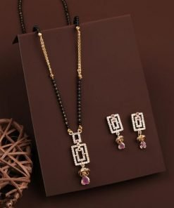Rectangle shape mangalsutra with tops