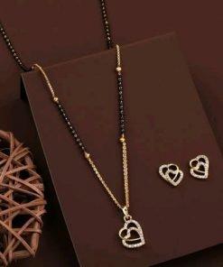 Heart Shape Alloy Gold Plat Mangalsutra