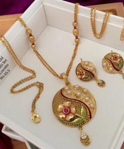 Beautiful Gold Plat Jewellery Set