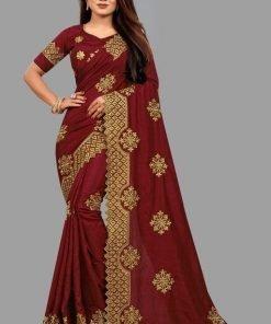 Fabulouse embroidery work saree