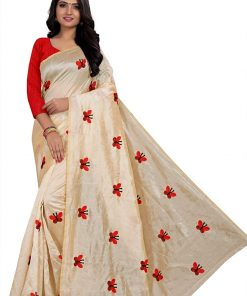 Chanderi silk embroidery butterfly saree