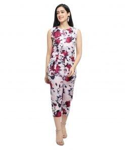 Flower Print Multicolor Women Jumpsuits