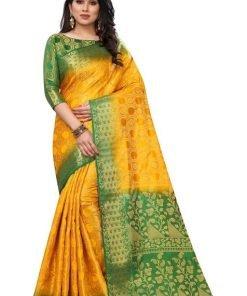 Fashionable banarasi silk saree