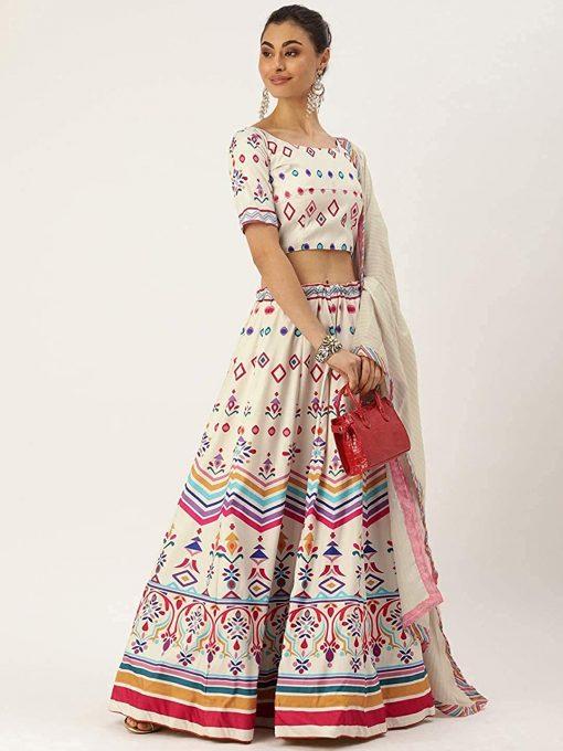 Women Wear Flar Lehenga Choli