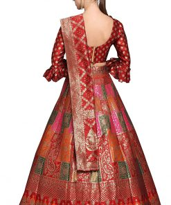 Silk Semi-stitched Lehenga Choli