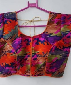 Color full Digital Print Blouse With Stitch