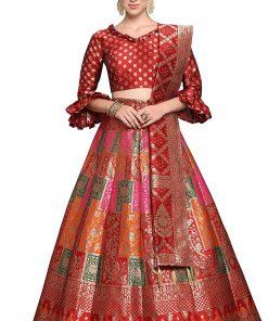 Silk Semi-stitch Lehenga Choli
