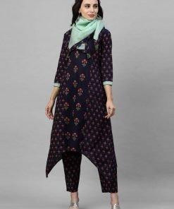 Indo Era Women Pure Cotton Kurta Set