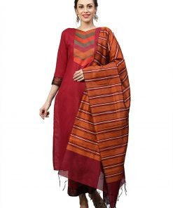 Indo Era Women Pure Cotton Yoke Design Kurta Set